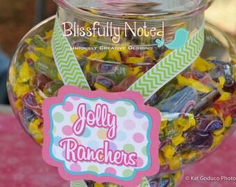 My Little Pony  Candy Buffet Dessert Labels