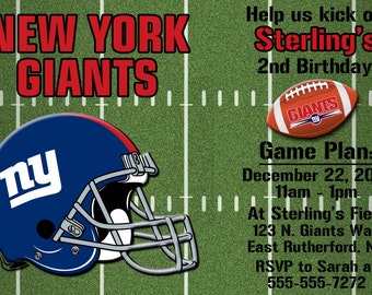 New York Giants Football Invitation or Thank you card