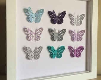 Customize Your Butterfly, 3d Paper Art, customize your colors to match your nursery