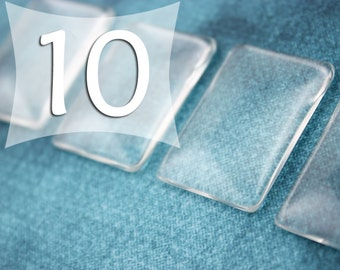 25x35 mm Rectangle Clear Glass Tile Cabochon Glass Tile Cabs