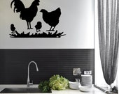 Wall Quotes Chicken Family Animal Decal Vinyl Decor Graphic Chickens Magazine  Sticker Rooster Country  (CP)
