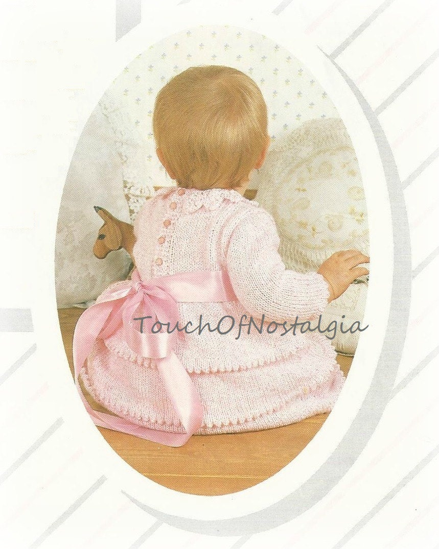 Baby DRESS Knitting Pattern Vintage LITTLE by ...