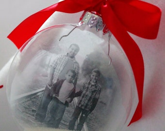 Photo Ornament, Photo Christmas Ornaments,Babys first Ornament, Personalized Ornaments, Glass Ornaments, Baby's First Christmas Ornament