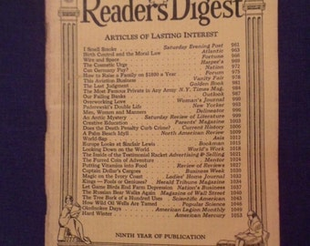 March 1931 Readers Digest