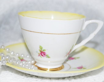 ROYAL STAFFORD Bone China  Tea Cup and Saucer, Vintage Wedding, Tea Party, Shabby Chic