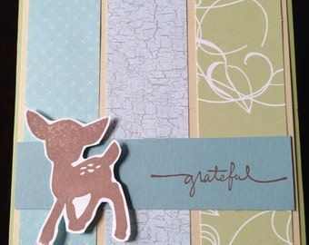 Willow Baby Deer Thank You Card