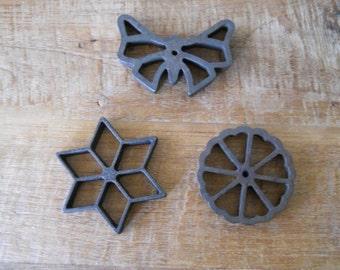 Vintage Cast Iron Cookie Molds