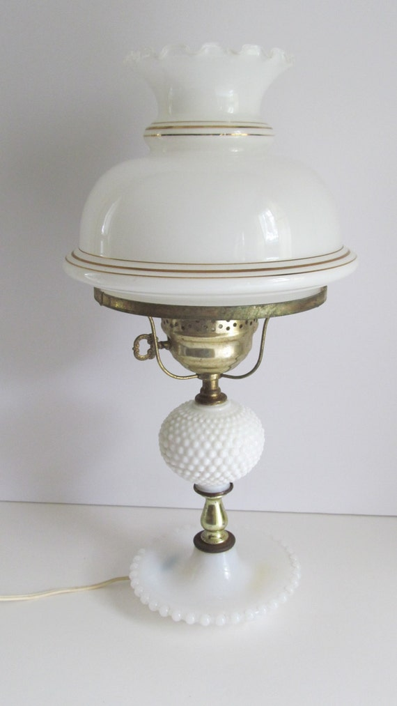 Hobnail Milk Glass Lamp Shade Lamp Globe Ring Fitting Shades