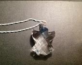 "Vintage Swarovski Crystal Angel Pendant on 18"" Sterling Silver Chain necklace"