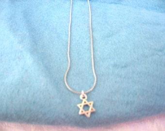 Mini Star of David Necklace / Star of David Necklace / jewelry / women's jewelry / men's jewelry / Israel / Judaica / jewelry