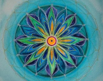 Mandala painting etsy for Cuadros mandalas feng shui decoracion mandalas