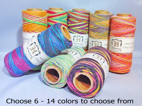 bulk macrame cord choose 6 macrame hemp cord 1mm multi color bulk by 3831