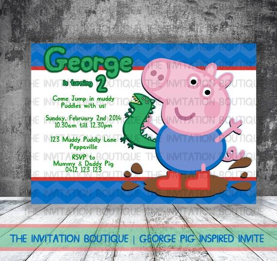 Peppa Pig Invitation for good invitations design