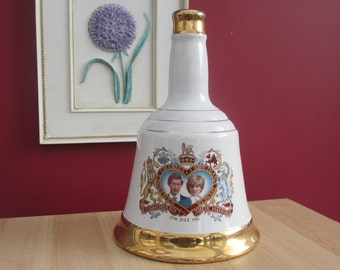 Vintage Commemorative Wade Whisky Decanter Charles and Diana 29th July 1981 Rare Collectors