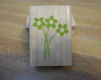 Inkadinkado Flower Trio Rubber Stamp