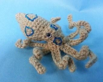 Blue Ringed Octopus Realistic Amigurumi Crochet Pattern PDF