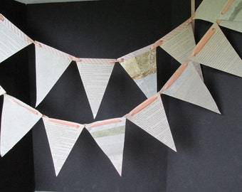 Wedding Paper Garland French Primer and Handcrafted Paper Garland Wedding Pink Garland