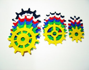18 Pieces Felt Gadget Gears