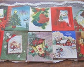 Vintage Christmas Cards Set of 10  UNSIGNED Stoneybrook Greetings