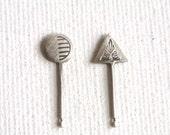Tribe Folk Hand Stamp Earrings
