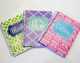 Monogrammed Personalized Mini Notebook 4x5