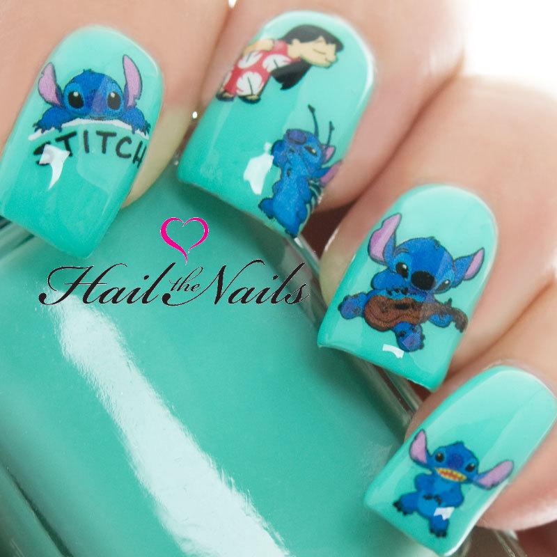 Nail Art Stitch: Lilo & Stitch Nail Art Wraps Water Transfers Decals Y827 Salon