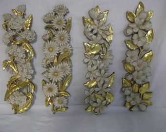 Syrocco Four Piece Floral Wall Panels