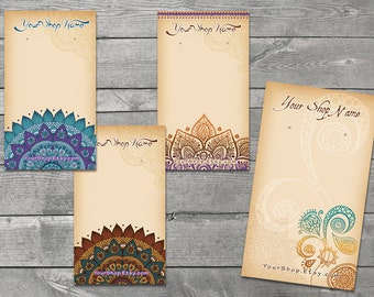 10 Custom Earring Cards with Holes - The MEHNDI Collection - Jewelry Card - Earring Hanger