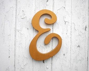 """Wooden Letter E Feminine font 12""""  Nursery Letters kids wall art girls room Trending items gift ideas Cabin decor"""