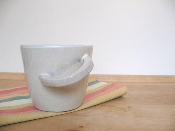 RESERVED FOR DIANE Coffee mug Tea cup Ceramic mug Bone White glazed cup Breakfast mug - ready to ship