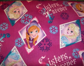 frozen sisters forever scrub top, any size