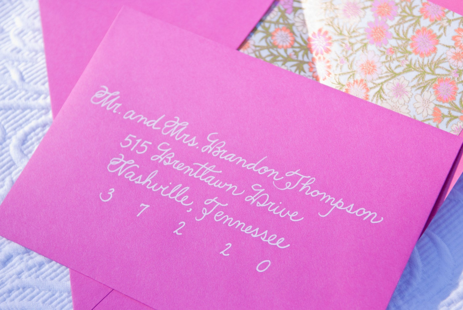 Custom handwritten wedding calligraphy for invitation envelope for Order in wedding invitation envelope