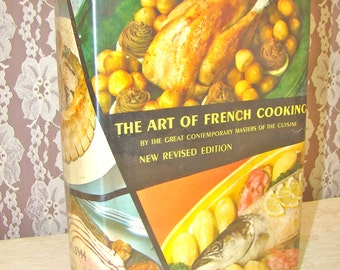 Vintage French Cookbook. 1960s. The Art of French Cooking by the Contemporary Masters of Cuisine. Chef Gift.