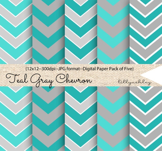 Teal gray chevron digital paper pack of 512x12 jpg by for Teal chevron wallpaper