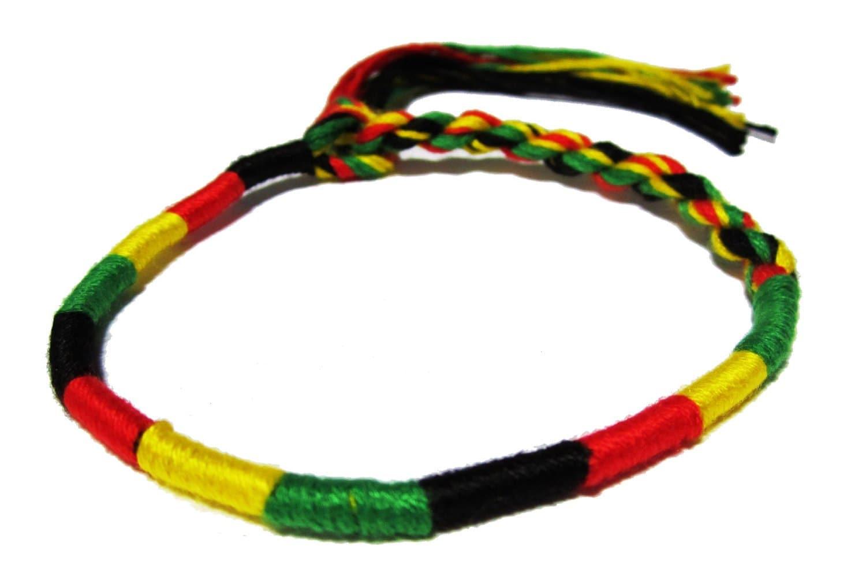 rasta bracelet jamaican bracelet rastafari bracelet