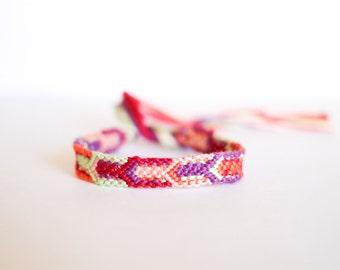 Woven Bracelet Multicolor Arrow Tribal Friendship Bracelet Chevron Stocking Stuffers