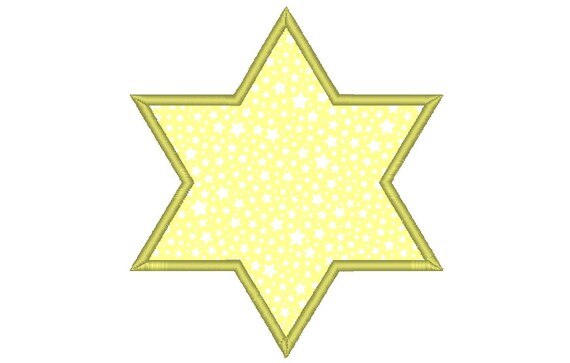 Six Point Star Applique Embroidery Machine Design