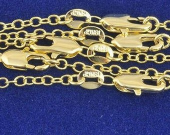 10pcs 18 Inches 1.3MM gold filled Fashion 18K Gold Filled Chains Necklaces ROLO Word O Chain Necklace