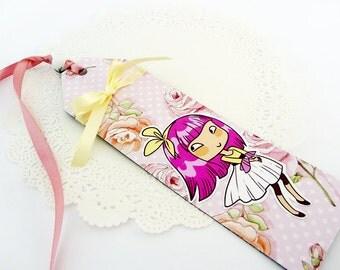 Bunny Girl - paper bookmark