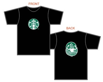 Starbucks Front and Back Black Tshirt