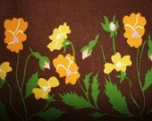 Vintage Table cloth Flower Power Seventies