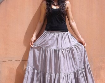 Boho Long Skirt   .....Long Skirt  ...Color Grey