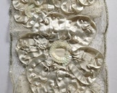 Ivory and Metallic Silver Sequined Bridal Lace Trim (by the yard)
