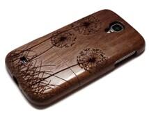 Samsung Galaxy S4 case - wooden S4 case walnut / cherry or bamboo wood-  Dandelion