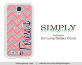 Samsung Galaxy S4 case / Samsung Galaxy S5 case / Samsung Galaxy NOTE 2 case / Samsung Galaxy NOTE 3 case - coral navy sparkle (Not Actual)