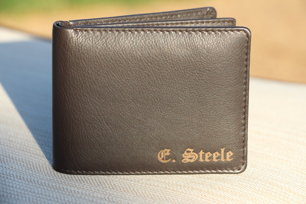 monogram wallet men u0026 39 s wallet personalized engraved