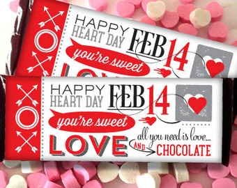 Hershey wrappers etsy for Valentine candy bar wrapper templates