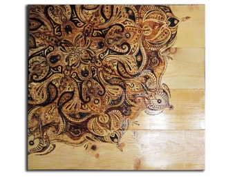 Original Artwork: Autumn Mandala Pyrography