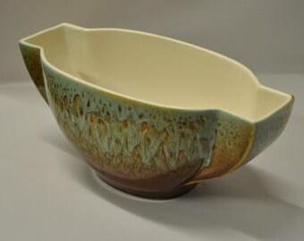 1940s vintage Art Deco pottery bowl