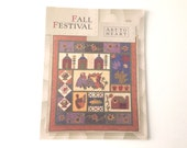 Fall Festival- Quilt Pattern for Autumn Banner Wall Hanging